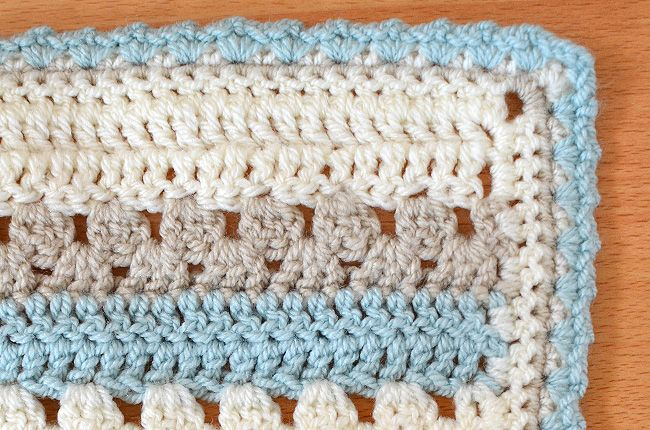 Making a cosy stripe baby blanket - pattern from Attic 24 and made using Stylecraft Special DK. Post from This Little Space of Mine