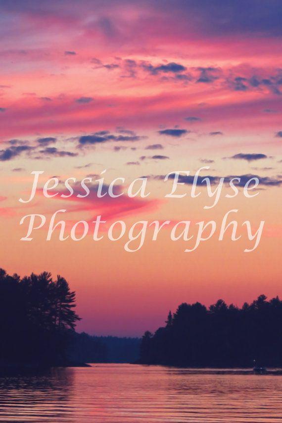 amazing orange pink and purple sunset over a by jessicaelysephotos, $30.00
