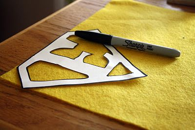 """How to add a """"superhero"""" letter to the back of a cape. (And instructions for the cape.)"""