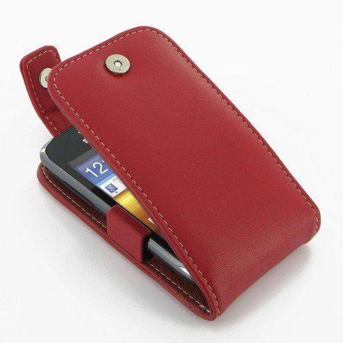 Pdair Flip Top Case for Samsung Galaxy Y Duos GT-S6102 Red ...