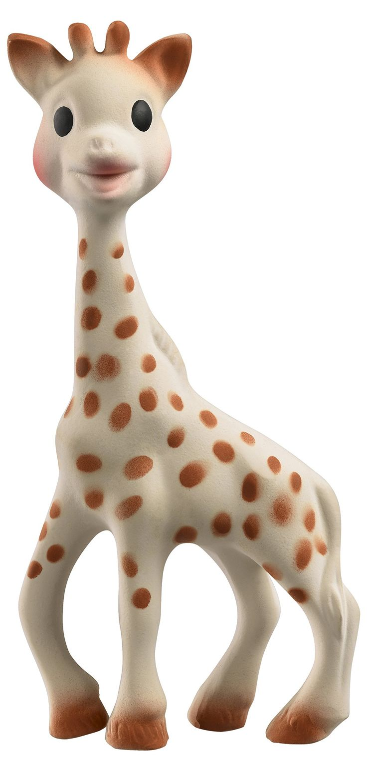 Vulli Sophie giraffe in Natural Rubber - People are right, these are like crack for babies. Started enjoying it at 3 months.