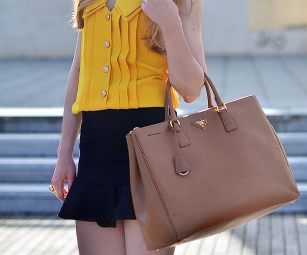 Saffiano Lux Tote in Camel | Prada | Pinterest | Totes, Prada and ...