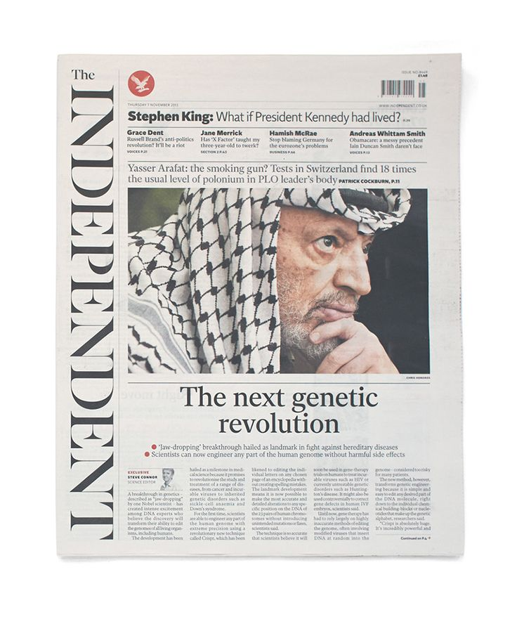 Independent newspaper redesign  (with the in-house team of designers: dan barber, stephen petch, gordon smith, nick donaldson.)