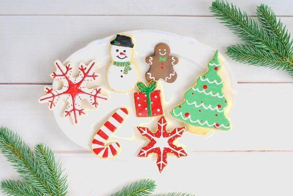 Fake Cookie Iced Snowman Christmas Ornament White And Red