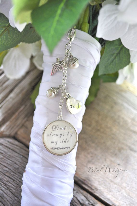 Wedding Bouquet Charm Bridal Bouquet Memorial by PetalWhispers