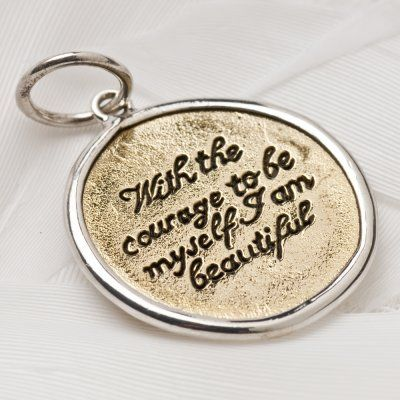 Courage charm 1017 > RRP $AUD26.40 #lovepalas #fearless #goforit #2014 #brave #courage #takecontrol  #palasjewellery #nofear