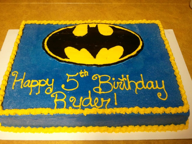 Cake Designs Batman : Batman Birthday Cake Decorated cakes Pinterest ...