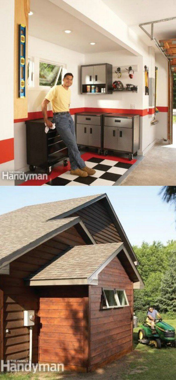 If you just really don't have enough space in your garage, you can add-on easily. You just have to ensure that you are set where building codes are concerned and then you can add just a small section to give you the extra storage that you need. A simple wooden foundation takes just a little time and is fairly inexpensive.Via: Familyhandyman – Get More Garage Storage With a Bump-Out Addition