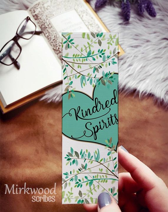 Kindred Spirits Bookmark Anne of Green Gables Bookmark