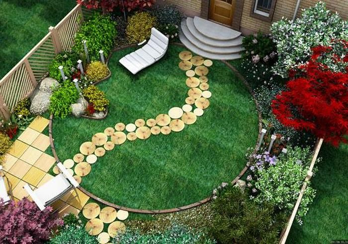 a path using the circles cut from a tree - like at Lance & Chelse' wedding decor