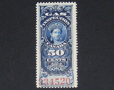Stamp Pickers Canada BOB 1897 Victoria 50c Gas Inspection #FG19 MNH Signed