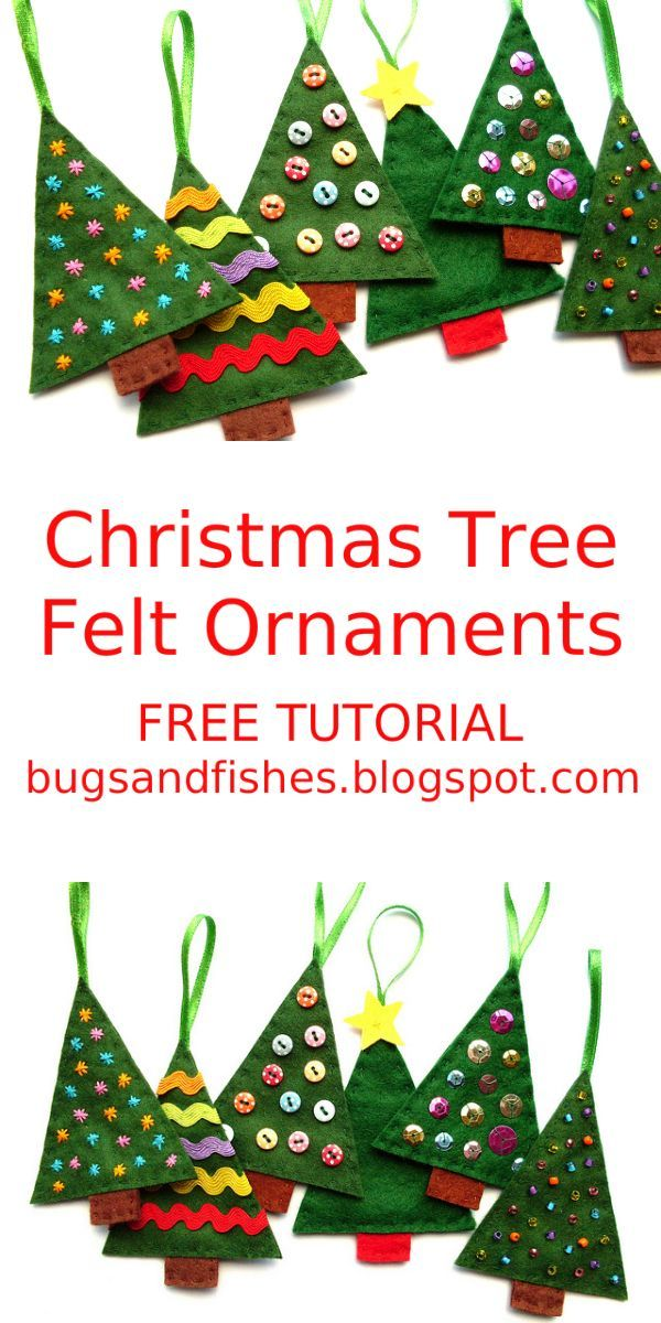 Free Christmas Tree Decoration Sewing Patterns : Best felt christmas trees ideas on diy