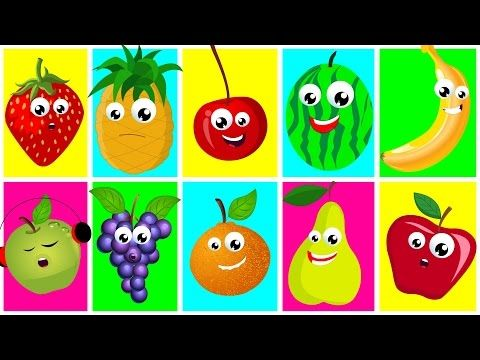 Ten In The Bed Fruits | Nursery Rhymes For Kids And Childrens | Learn Fruits | Songs For Toddler - YouTube