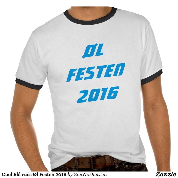 Cool Blå russ Øl Festen 2016 Tshirt