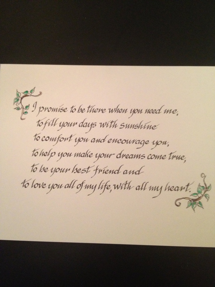 custom wedding vows family prayers bible verses on paper expert calligraphy by liz