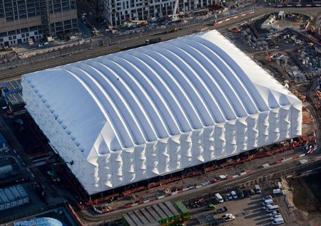 New Olympic Basketball Arena is a Collapsible Flatpack : TreeHugger
