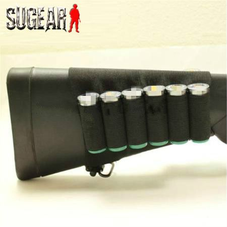 Airsoft Hunting Nylon Buttstock Rifle 8 Cartridge Holder Outdoor Military Paintball Ammo Rifle Gun Bullet Carrier for Hunting ** Find out more about the great product at the image link.