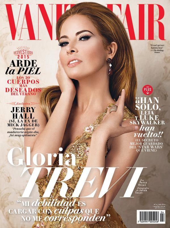 Gloria Trevi protagoniza la portada de la nueva edición de Vanity Fair México, a la venta hoy.