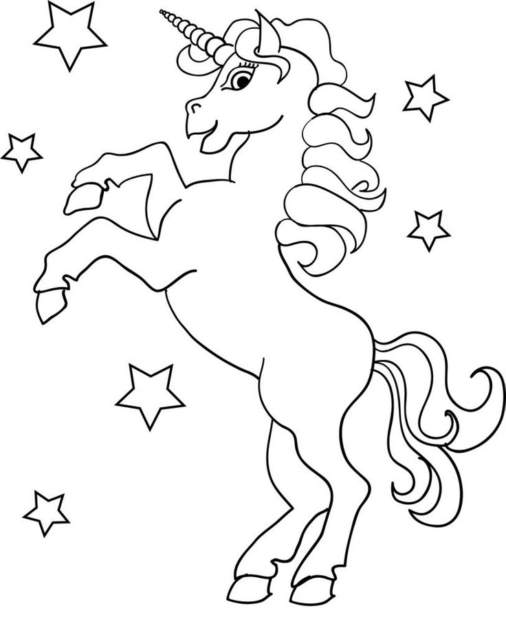 Para Colorear Y Pintar Imprimir Dibujos De Unicornio Niños | UNICORN ...