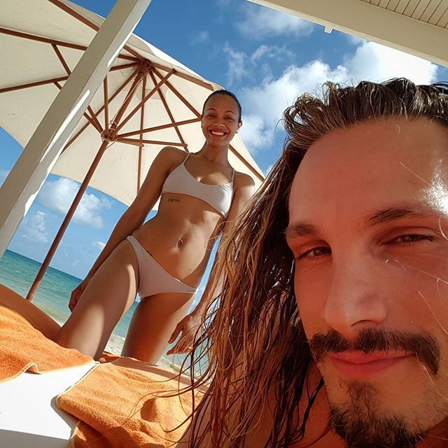 Pin for Later: Zoe Saldana's Affordable Bikini Is All You Need For a Carefree Winter Getaway  Zoe showed off her L*Space bikini on Instagram.