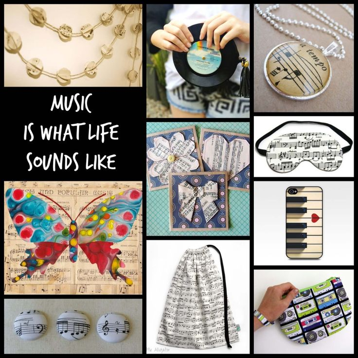 Music is what Life Sounds like » On A Whim Designs  Links to all items in blog post.