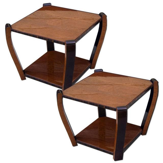 deco home furniture. pair of french art deco end tables home furniture