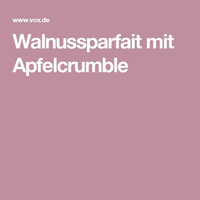 Walnussparfait mit Apfelcrumble