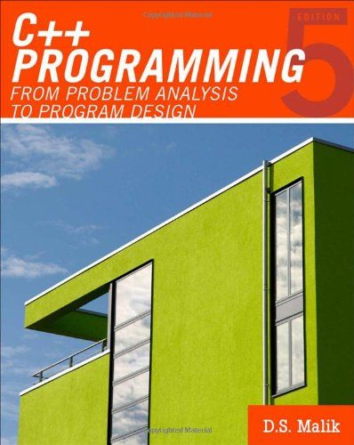 Bestseller books online C Programming: From Problem Analysis to Program Design (Introduction to Programming) D. S. Malik  http://www.ebooknetworking.net/books_detail-0538798084.html