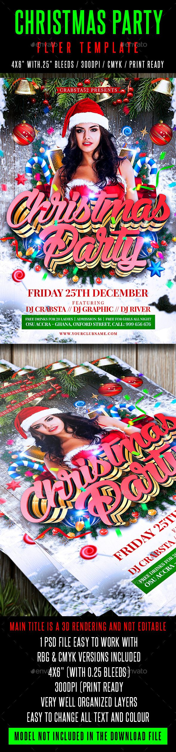 best images about merry christmas flyer template christmas party flyer template