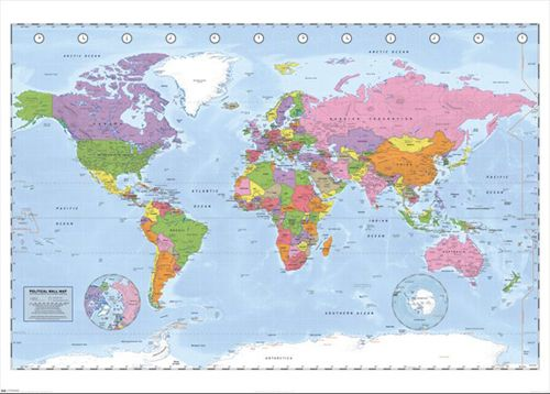 39 best maps of the world and more images on pinterest sports political world map nations of the world geography poster bananaroad gumiabroncs Gallery