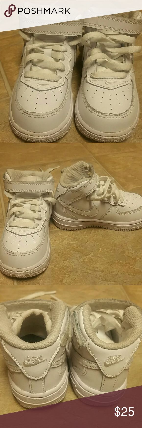 Baby toddler shoes Nike White air force one sz 6 Baby\toddler white air force one's sz 6  mid top Nike Shoes Sneakers