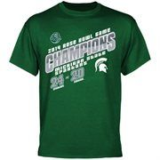 Michigan State Spartans 2014 Rose Bowl Champions Score T-Shirt - Green