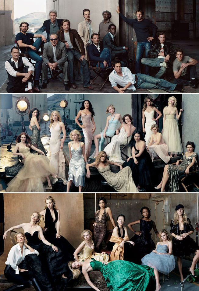 Vanity Fair love affair. Ideas to create similar group shots with layers - photo posing ideas