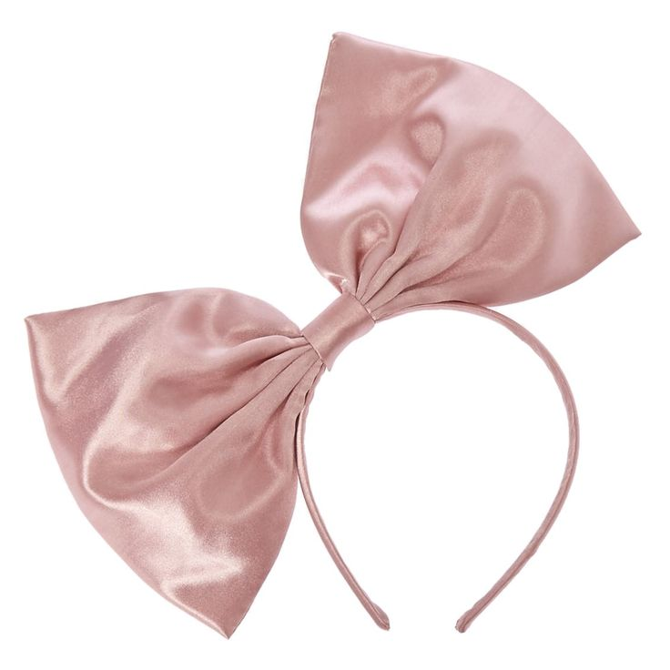 Jumbo Pink Bow Headband | Rock the biggest bow around! This Jumbo Pink Bow Headband is wrapped with silky smooth polyester fabric in a dusty rose color.