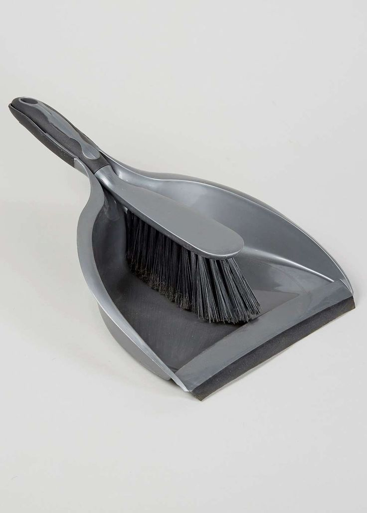Plastic Silver Dustpan & Brush (34 x 25 x 9cm) View 1