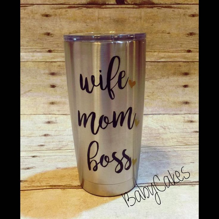 Wife, Mom, Boss with hearts on Ozark Trail 20oz Stainless Steel Tumbler/Mom Boss Insulated Tumbler/Wife by BabyCakes0458 on Etsy