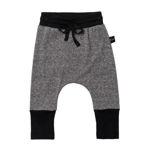 High Cuff Pant Charcoal Slub