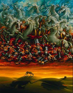dideh iranian fine art: gallery: Ali Akbar Sadeghi: Problem