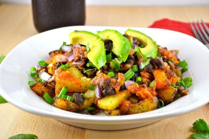 Spicy Potato Taco Plate- vegan, gluten free, delicious!
