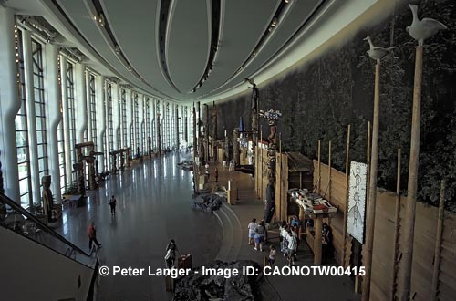Caption:  Grand Hall of the Canadian Museum of Civilization in Ottawa, Hull, Quebec, Canada