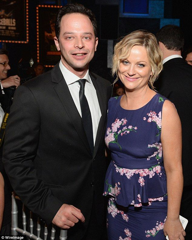 Amy Poehler debuts her new boyfriend and fellow comedian Nick Kroll at glamorous award gala | Mail Online