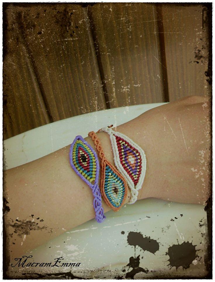 ..'Evil eye' Macrame Bracelets..by MacramEmma..<3
