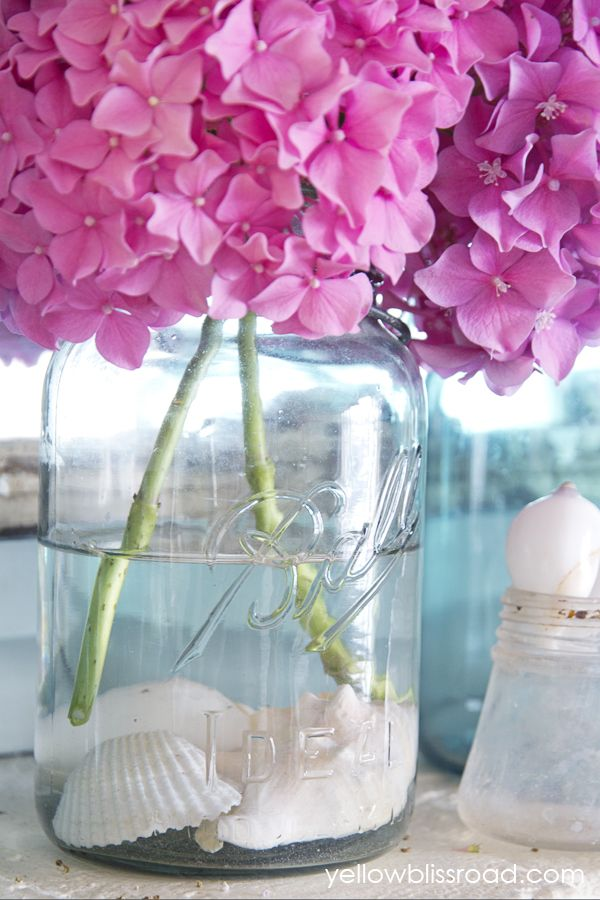For summer.. decorate a mantel or porch.. also a great centerpiece idea!