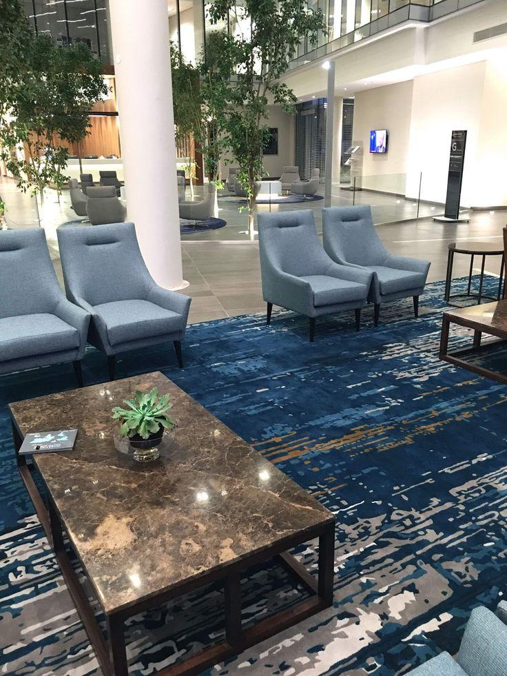 Corporate reception rug