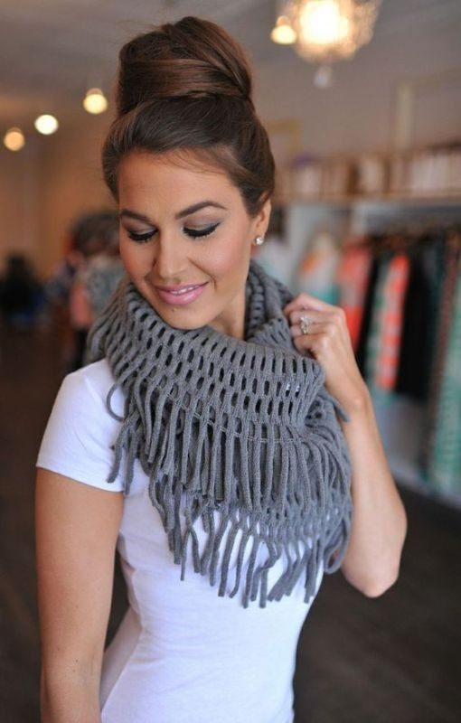 +20 Catchiest Scarf Trends for Women in 2017  - A scarf is not just a piece of cloth that women wear around the neck or over the shoulders for warmth. There are some women who wear scarves to keep w... -  scarf-trends-2017-1 .