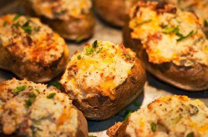 Double Stuffed Baked Potatoes