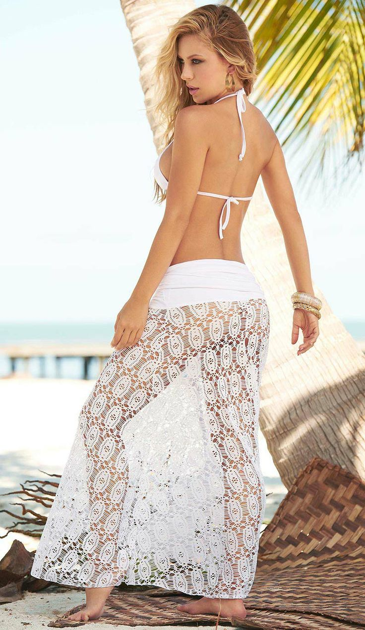 Convertible dress to skirt white lace bandeau