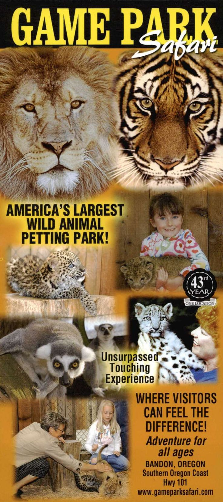 West Coast Game Park - Bandon, OR -  I've been here twice angel got to hold tiger cubs.....I will definitely be going back again!