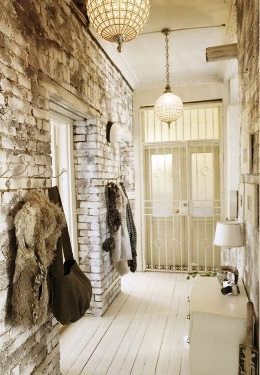 If ever a brick wall enters their apartment, loft or other dwelling place, this is a perfect balance of rustic meets refined.