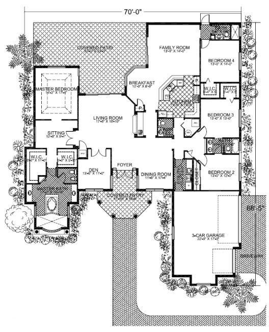 Dream home floor plan 3 future home pinterest 3 car for Garage in law suite plans